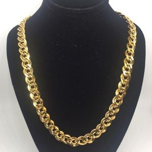 """Vintage Napier Gold Tone Double Chain Necklace 24"""""""